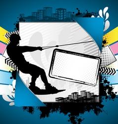 wakeboarder summer frame vector image