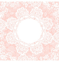 white lace on pink background vector image