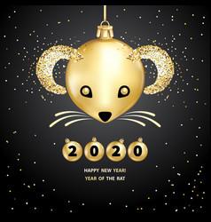2020 year rat vector
