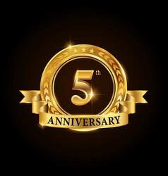 5 years anniversary celebration logotype vector