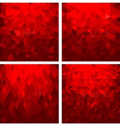 Abstract geometric background set vector image
