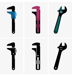Adjustable wrenches vector