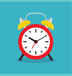 alarm clock wake-up time in at work vector image