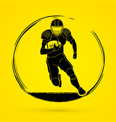 american football player action graphic vector image