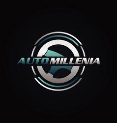 automotive driving steer logo design vector image