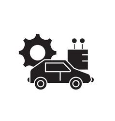 autonomous car black concept icon vector image