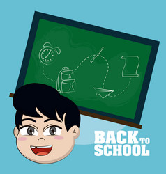 back to school cartoons vector image