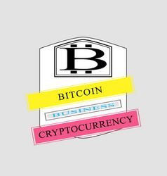 Bitcoin emblem template vector