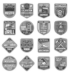 Building diy and repair tools icons vector