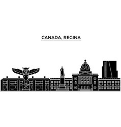 Canada regina architecture city skyline vector