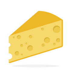 Cheese flat material design isolated object on vector