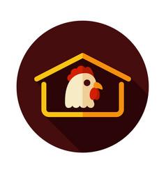 Chicken house icon vector