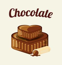 chocolate candies design vector image