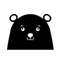 Christmas bear face cartoon vector