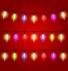 Christmas Lights - carnival electric bulbs strung vector