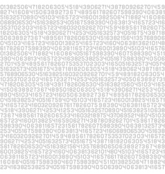 Code Screen Gray Numbers Background vector image