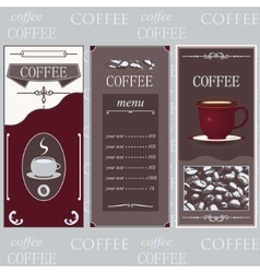 Coffee templates white colore vector image vector image