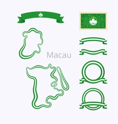 Colors of Macau vector