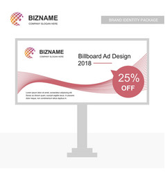 company bill board design with red theme with vector image
