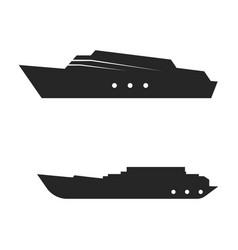 cruise ship icon design vector image