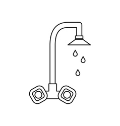 Dripping tap icon outline style vector