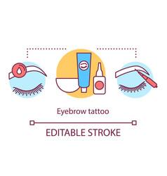 Eyebrow tattoo concept icon beauty service idea vector