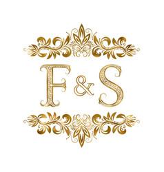 F and s vintage initials logo symbol vector