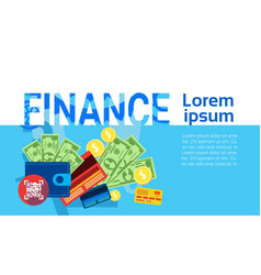 finance money savings business banking banner vector image