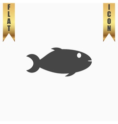 Fish icon on background vector image