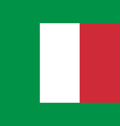 flag of italy national symbol of the state vector image