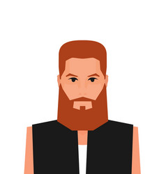flat cartoon hipster character vector image
