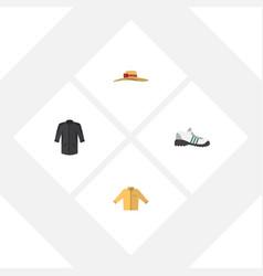 flat icon garment set of banyan elegant headgear vector image