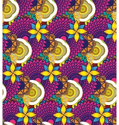 Floral bright seamless pattern vector image