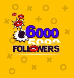 follower banner comic text pop art design vector image