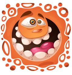 Funny cute crazy pumpkin character halloween vector