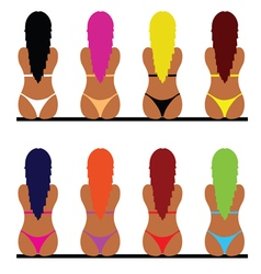 Girl in bikini set one vector