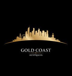 Gold coast australia city silhouette black vector