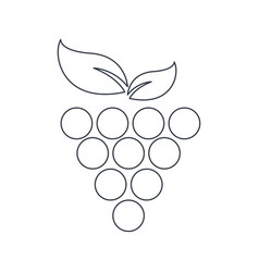 grape fruit food symbol outline vector image