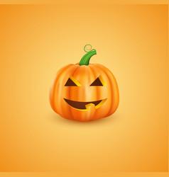 halloween pumpkin in 3d realistic style happy vector image