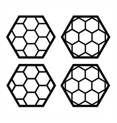 Honeycomb icon design on white background vector