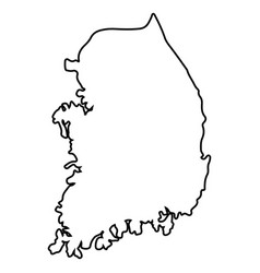 Isolated south korean map vector