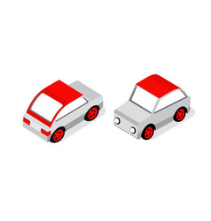 Isometric set cars vector