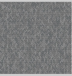 Knit texture melange gray color seamless pattern vector