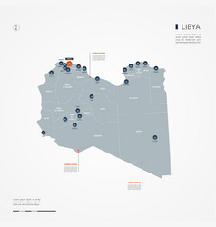 Libya infographic map vector