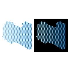 Libya map hex-tile mosaic vector