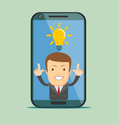 man app icon on smartphone display in flat style vector image
