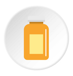 medicine jar icon circle vector image