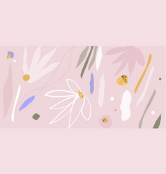 modern abstracts background with floral and vector image