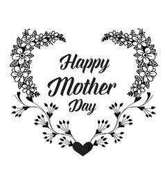 Mother day background card flower vector