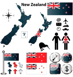 New Zealand map vector image vector image